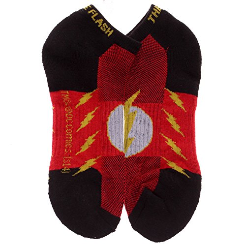 Official DC Comics The Flash Logo Active Performance Ankle Socks (Heroes And Villains Clothing)