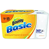 Bounty 92968 Basic Paper Towel, 10.19 width, 10.98 Length, 1-Ply, 11 Height, 13.5 width (Pack of 660)