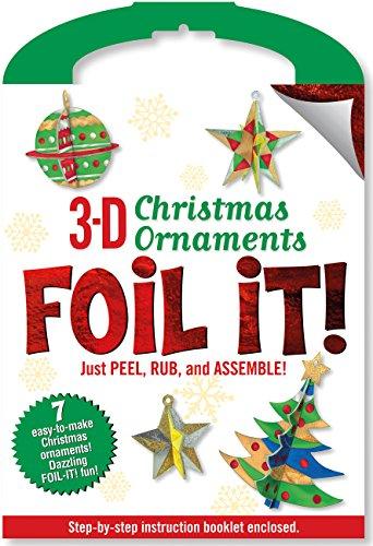 Punch-Out 3-D Christmas Ornaments Foil It! Activity Kit