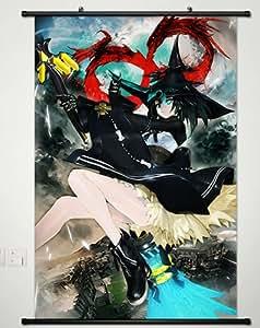 Decoración del hogar Anime Cosplay Black Rock tirador Kuroi Mato desplazamiento de pared Póster de 23,6x 35.4cm -419