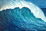Ocean Wave in Hawaii, impressionist style painting, Large painting, with heavy texture