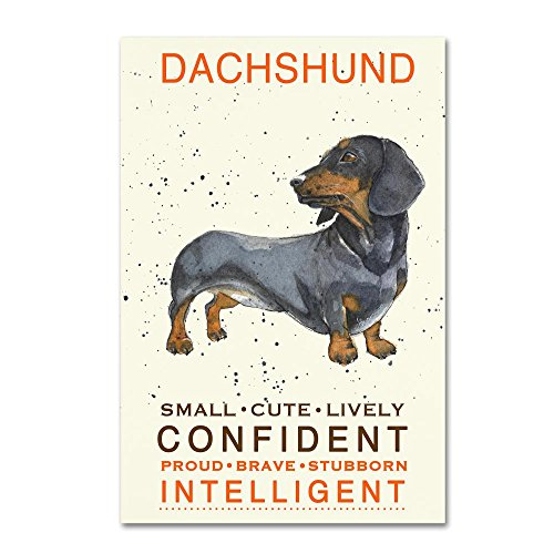 Trademark Fine Art Dachshund Print by Michelle Campbell, 12x19-Inch Canvas Wall (Dachshund Wall)