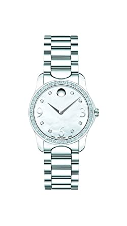 d6a5a6d3f6f Amazon.com  Movado Women s 0606706 Moda Stainless Steel and Diamond ...