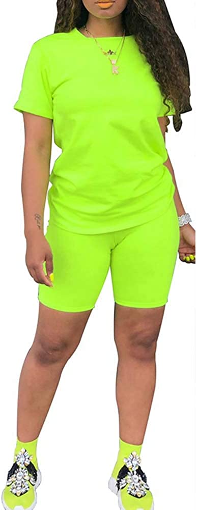 Womens Lightweight 2 Piece Sports Outfit Knot Tie Up Tracksuit Shirt Shorts Jogger Sportswear Set Activewear