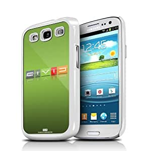 Honda Civic Reverse C Lime Green Samsung Galaxy S3 White Cell Phone Case