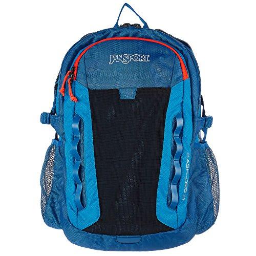 JanSport Outdoor Mainstream Ashford Backpack (MOROCCAN DEEP/MIDNIGHT SKY, 18.5''H X 13.5''W X 9.5''D) by JanSport
