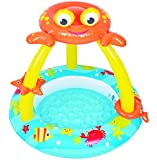 """Balance Living Crab Canopy Toddler Pool with Inflatable Toy Accessories(39"""" diameter)"""