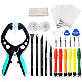 Kaisi iPhone Screen Opening Toolkit iSlack Suction Cup Pliers Opening Repair Kit Compatible for iPhone, iPad, Cellphone and Other Smooth Surface LCD Screen Opener - 16Pcs