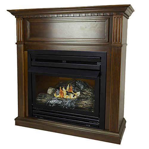 Pleasant Hearth 42 Intermediate Cherry System Liquid Propane Vent Free Fireplace 27,500 BTU, - Btu 000 27 Propane