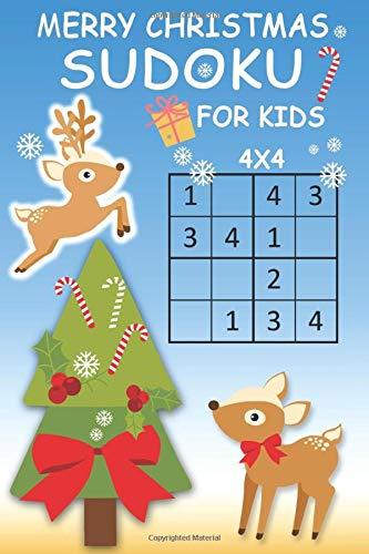 Merry Christmas Sudoku For Kids  4x4 Sudoku Christmas Puzzles Book For Brainy Kids Improve Memory Logic And Critical Thinking Skills  Sudoku Books For Kids Band 1