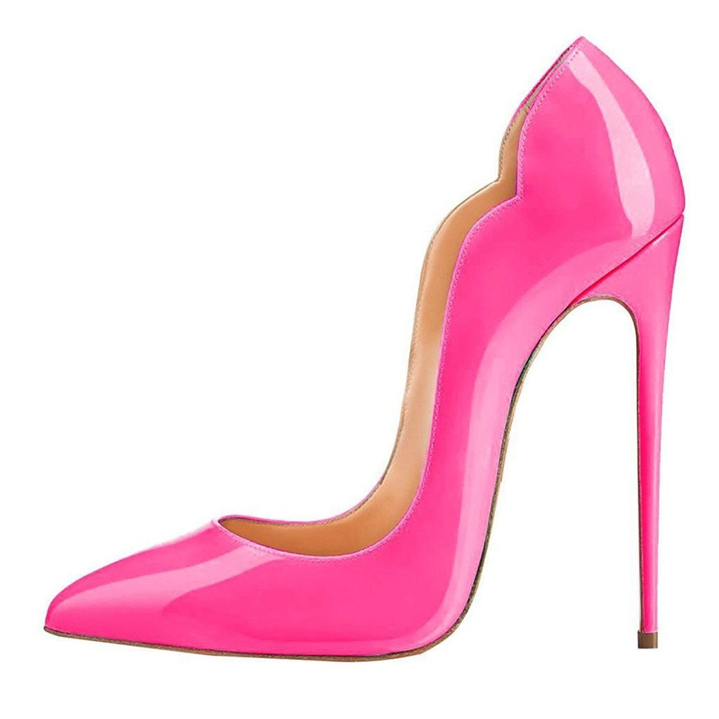 FSJ Women Classic Sexy Pointed Toe High Heels Sexy Classic Stiletto Pumps Office Lady Dress Shoes Size 4-15 US B01EVCF818 9 B(M) US|Hot Pink d3c76f