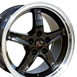 rims for 2003 mustang - 17x9 Wheel Fits Ford Mustang - Cobra R Style DD Black Rim