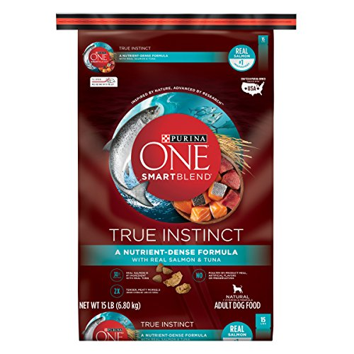 Purina ONE High Protein Natural Dry Dog Food; SmartBlend True Instinct With Real Salmon & Tuna - 15 lb. Bag