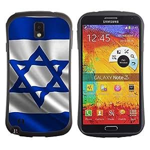 Suave TPU Caso Carcasa de Caucho Funda para Samsung Note 3 N9000 N9002 N9005 / Israel Flag / STRONG