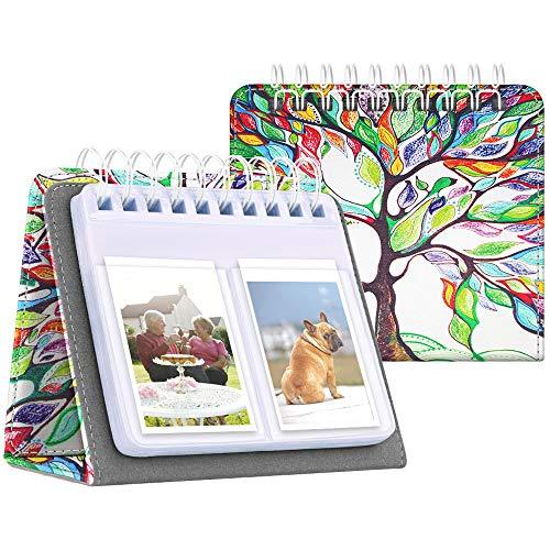 Fintie Calendar Photo Album for Fujifilm Instax, 64 Pockets Vegan Leather Photo Album for Fujifilm Mini 9 Mini 8+ Mini 90 Mini LiPlay, HP Sprocket, Kodak Mini, Polaroid Camera 3-Inch, Love Tree
