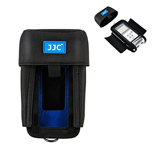 JJC Protective Pouch Case Bag for Zoom H4n, Zoom H4n Pro, Tascam DR-40 Handy Portable Recorder replaces Zoom PCH-4n Case, with See-Through Window Rain Cover by JJC