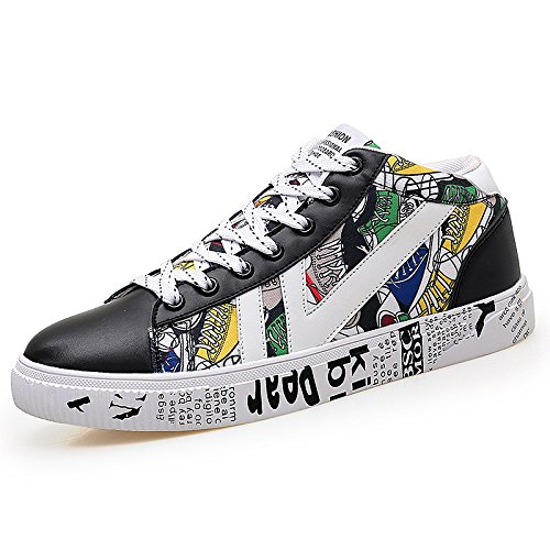 NBWE Hommes Casual Board Chaussures Hip-Hop Vent Chaussures de Sport à Lacets black and white 3svyN70oz