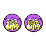 GiftJewelryShop Gold Plated Religion Christian Church Choir Photo Stud Earrings 12mm Diameter