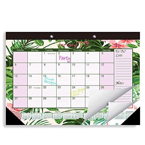 2019 Desk or Wall Calendar Large Blotter Pad 11.5 X 17 for Home Decor, Teacher, Office