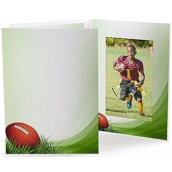 Amazoncom Football Field Cardboard Photo Folder For 5x7 Prints