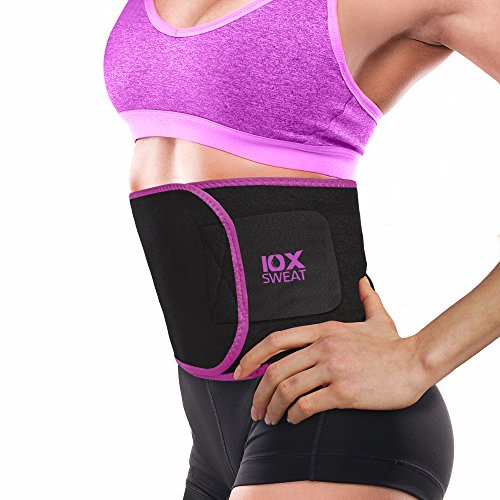 10xSWEAT-Waist-Trimmer-Belt-Weight-Loss-Wrap-Stomach-Fat-Burner-Low-Back-and-Lumbar-Support-with-Sauna-Suit-Effect-Best-Abdominal-Trainer-Pink