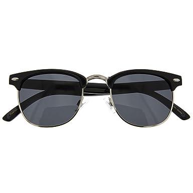 fc27d0f54f3 Polarized Clubmaster Sunglasses Men s Women s Half Frame Vintage Designer  Meta Black
