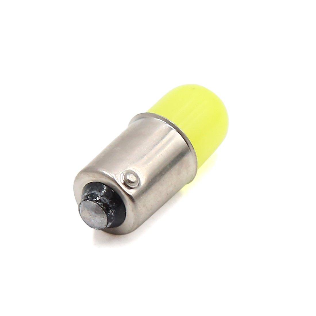 sourcing map 5pcs 12V BA9S Bombillas LED Blanco Luces para Panel Tablero Interior de Auto Coche