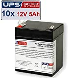 (10) 12V 5Ah F2 - HP Compaq 204503-001 UPS New Battery Set by UPSBatteryCenter