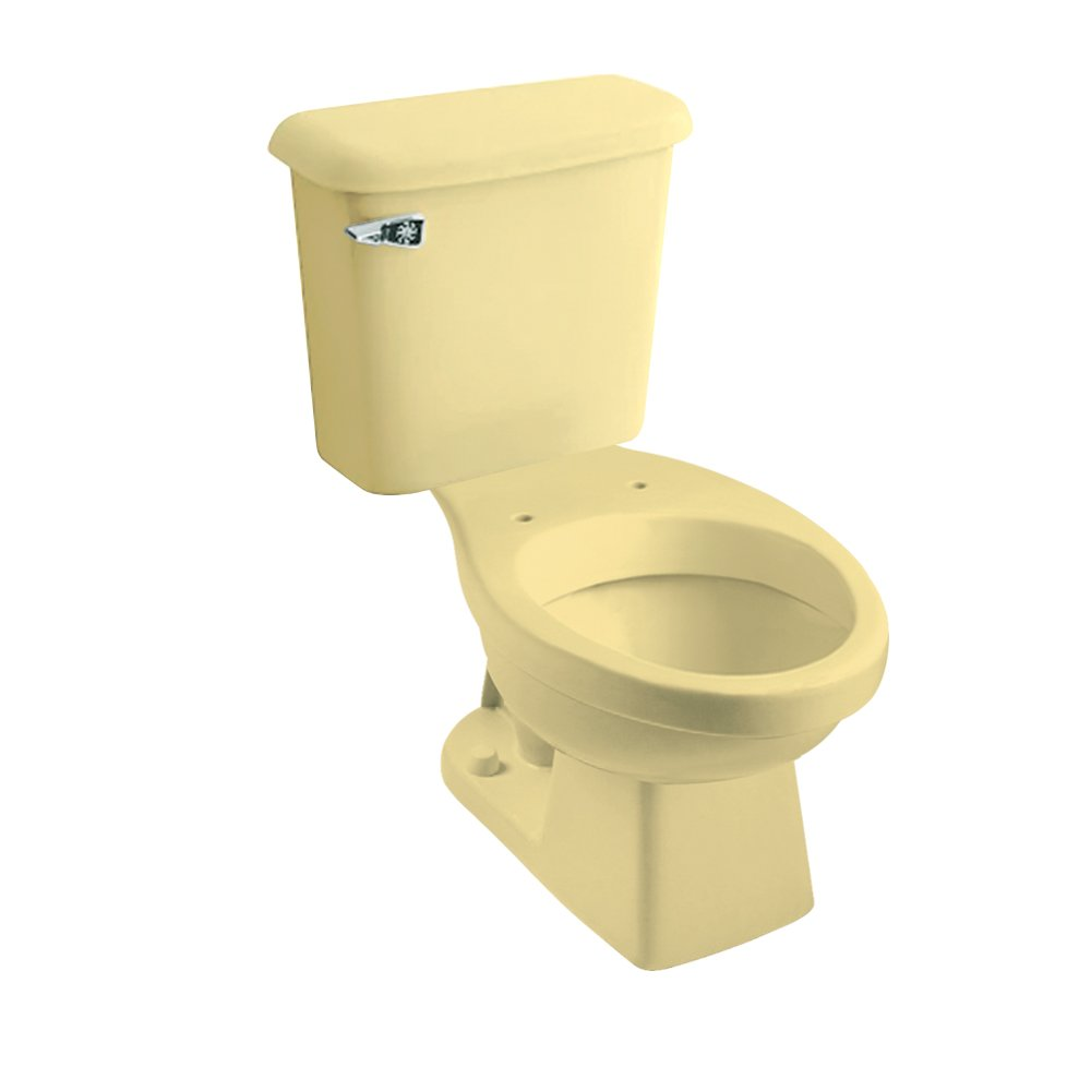 Peerless Pottery 7660-05 Hancock Vitreous China Elongated Toilet Kit with 12-in Rough, Harvest Gold by Peerless Pottery