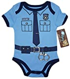 (3-6)THE POLICEMAN Funny Baby Boy Girl Novelty Uniform Costume Onesie - Cute Bodysuit