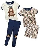 Duck Duck Goose Infant & Toddler Boys 4-Piece Snug Fit Summer Pajama Set, Bear, 18 Months'