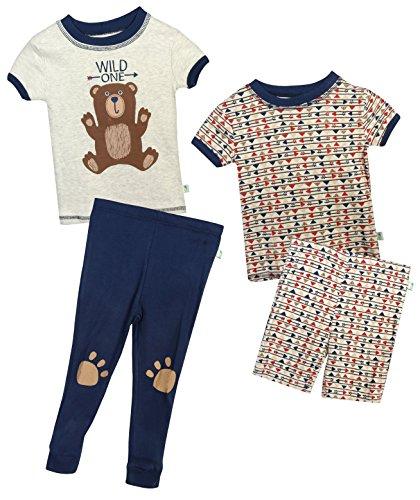 256212792ef8 Duck Duck Goose Infant   Toddler Boys 4-Piece Snug Fit Summer Pajama ...
