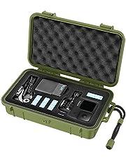 Smatree Waterdichte draagtas met harde schaal, compatibel met Gopro Hero 10/9/8/7/6/5/Hero 2018/DJI Osmo Action, groen (camera en accessoires niet inbegrepen)