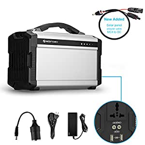 ACOPOWER 220Wh/60,000mAh Portable Solar Generator for Camping, Lithium Ion Battery with AC/DC Inverter; Power Bank USB/5V DC/12V AC 110V; Input: AC, Car & Solar Panel