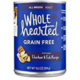 WholeHearted Grain Free Adult Chicken and Fish Recipe Wet Dog Food, 13.2 oz, Case of 12, 12 X 13.2 OZ