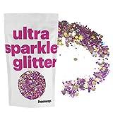 Hemway Gold Purple Holographic Mix Glitter Chunky