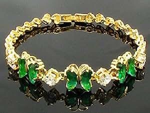 Butterfly Semi Precious 18K Gold Plated bracelet