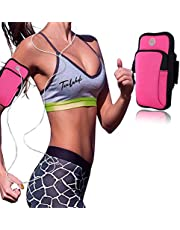 Sports Arm Bag Armbands Exercise Workout Running Gym Armbands Phone Holder Pouch Case with Earphone Hole 1PCS Pink for iPhone 11, 11 Pro, 11 Pro Max, X, Xs,etc