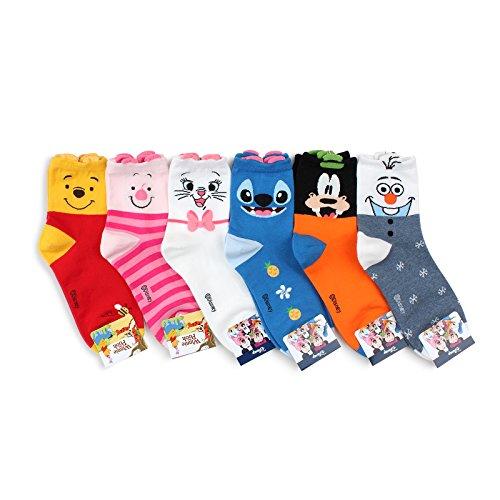 Choice !! Disney Pixar Characters Set Socks with Intype Pouch (Crew (Pooh Socks)