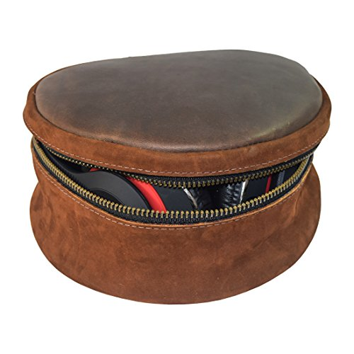 Click to buy Durable Leather Carrying Case For Headphones / Cords / Makeup / Toiletries Handmade by Hide & Drink :: Swayze Suede - From only $44.99