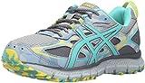 ASICS Women's Gel-Scram 3 Trail Runner, Mid Grey/Turquoise/Aluminum, 8 M US