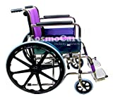 Kosmocare Premium Imported Foldable Dura Mag Wheelchair With Soft Cushion & Seat Belt