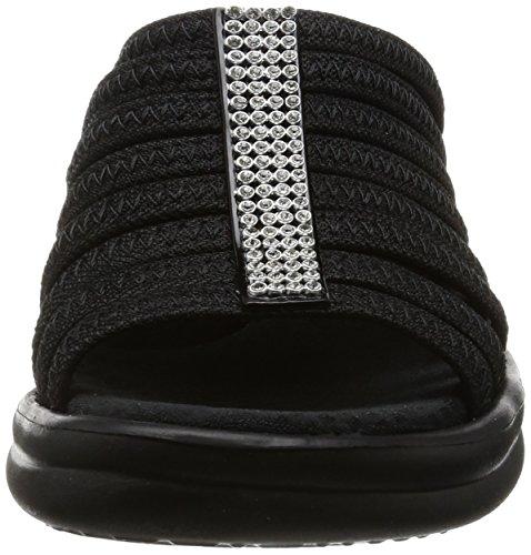Sandali Rumblers Skechers hotshot Nero Aperta Punta A black Donna EfqPwnTqCx