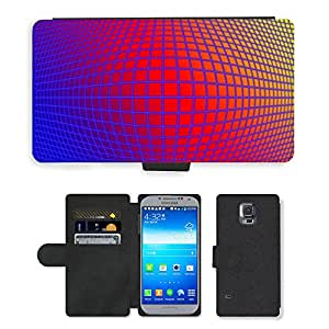PU LEATHER case coque housse smartphone Flip bag Cover protection // M00151265 Diamantes de Grid figura abstracta // Samsung Galaxy S5 S V SV i9600 (Not Fits S5 ACTIVE)