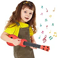 M SANMERSEN 15 Inch Kids Guitar Toy 4 Strings Kids Toy Ukulele Children Musical Instruments Educational Learni