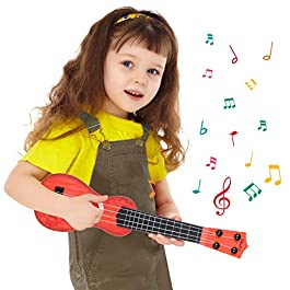 M SANMERSEN 15 Inch Kids Guitar Toy 4 Strings Kids Toy Ukulele Children Musical Instruments Educational Learning Toys…