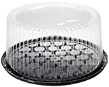 10-11inch Cake Double Layer Clear Cake Container Dome and Base Carry & Display Storage Box - 4pack