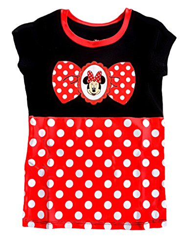 Disney Minnie Mouse Toddler Little Girls' Costume Dress Up Tee Long T-Shirt (5T)