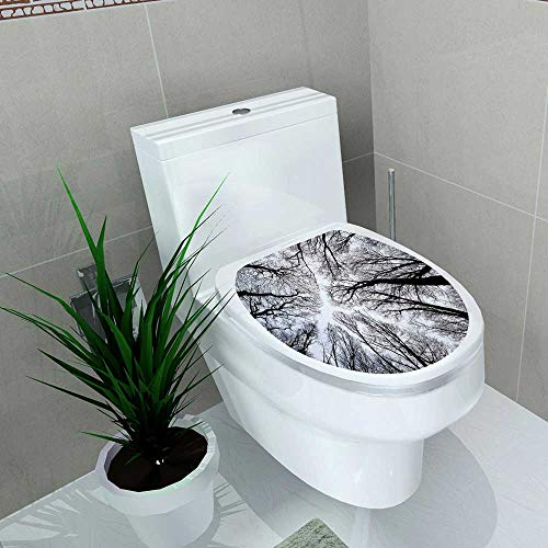 Auraise-home Decal Wall Art Decor Abstract Tree Branch Silhouette Halloween Concept for Toilet Decoration W13 x L13 -