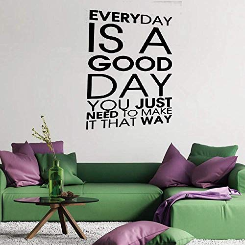 Pretyi Wall Sticker Quotes Decals Decor Vinyl Art Stickers Everyday is A Good Day You Just Need to Make It That Way